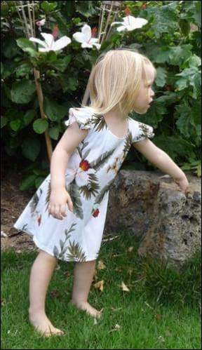 Hawaiian Orchid White - Girls Rayon Dress - All Clothes Hawaiian
