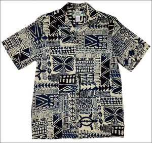 Honu Hale Navy Hawaiian Aloha Rayon Shirt - All Clothes Hawaiian