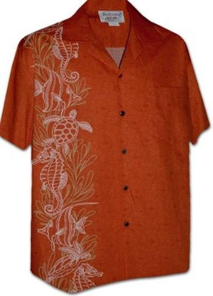 Honu Tangerine - 100% Cotton - All Clothes Hawaiian