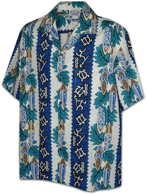 Kāuhi Blue - 100% Cotton - All Clothes Hawaiian