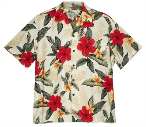Leilani Cream - Hawaiian Aloha Rayon Shirt - All Clothes Hawaiian