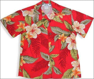 Leilani Red - Boys Short Sleeve - 100% Rayon - All Clothes Hawaiian