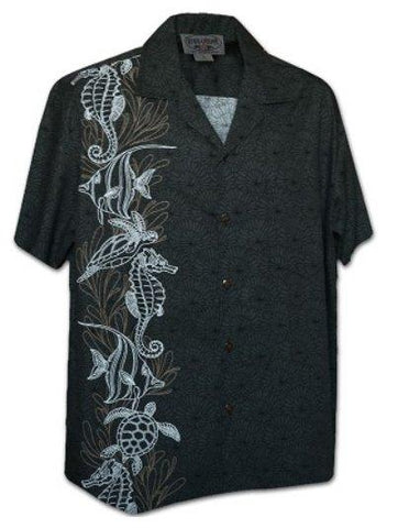 Lio Kai Charcoal - 100% Cotton - All Clothes Hawaiian
