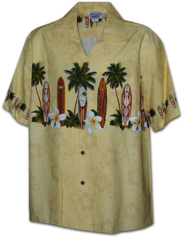 Manawa Pa'a Beige - 100% Cotton - All Clothes Hawaiian