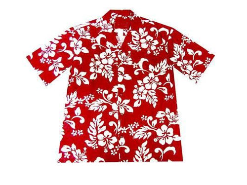 Men's Clothing - Big Island Floral Red   6XL