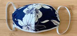 Monstera Orchid Navy Mask - All Clothes Hawaiian