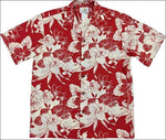 Monstera Orchid Red - Hawaiian Aloha Cotton Shirt - All Clothes Hawaiian