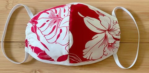 Monstera Orchid Red Mask - All Clothes Hawaiian