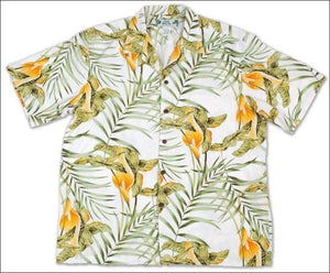 Napali White - Hawaiian Aloha Rayon Shirt - All Clothes Hawaiian