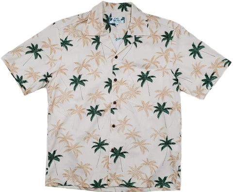 New Beige Aloha Cotton Shirt - All Clothes Hawaiian