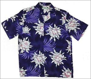 Night Blooming Purple - Hawaiian Aloha Rayon Shirt - All Clothes Hawaiian