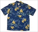 Orchid Fern in Blue - Hawaiian Aloha Rayon Shirt - All Clothes Hawaiian