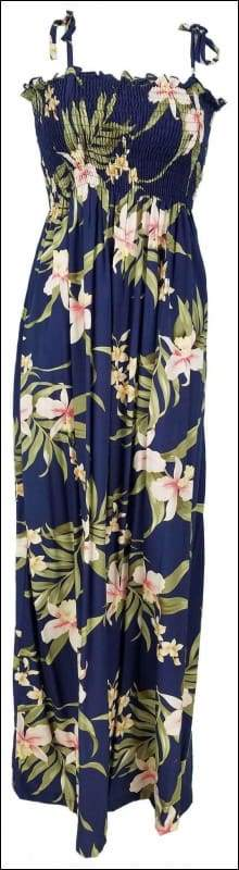 "Pali Orchid Blue - 45"" Tube Top Dress - 100% Rayon - All Clothes Hawaiian"