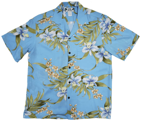 Pali Orchid Light Blue - All Clothes Hawaiian
