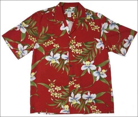 Pali Orchid Red - Hawaiian Aloha Rayon Shirt - All Clothes Hawaiian