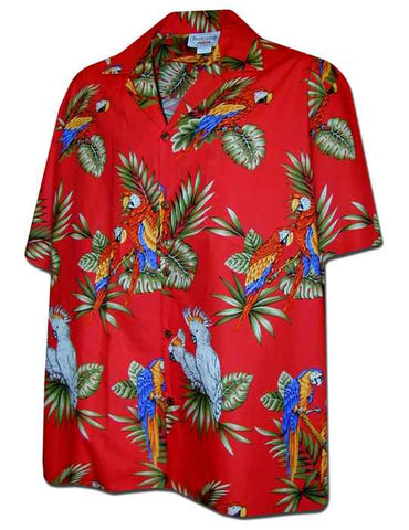 Parrot Red - 100% Cotton - All Clothes Hawaiian