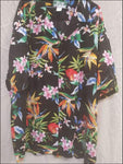 Passion Paradise Black - Hawaiian Aloha Rayon Shirt - All Clothes Hawaiian