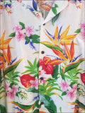 Passion Paradise White - Hawaiian Aloha Rayon Shirt - All Clothes Hawaiian
