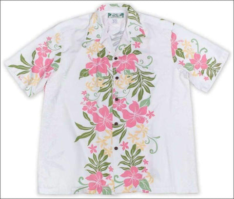 Rene Panel White - Hawaiian Aloha Rayon Shirt - All Clothes Hawaiian