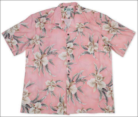 Retro Orchid in Pink - Hawaiian Aloha Rayon Shirt - All Clothes Hawaiian