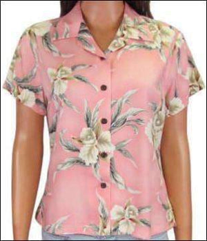 Retro Orchid Pink Blouse - 100% Rayon - All Clothes Hawaiian