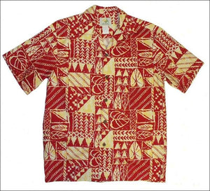 Rock Wall Red Short Sleeve - 100% Cotton - All Clothes Hawaiian