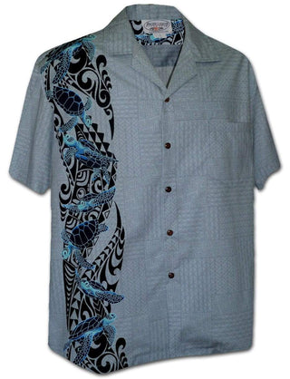Sea Turtle Slate - 100% Cotton - All Clothes Hawaiian
