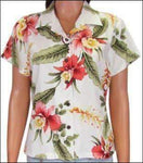 Sonic Beige - Women's 100% Rayon Blouse - Made in Hawaii - All Clothes Hawaiian