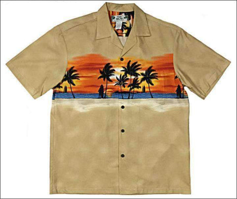 Sunset Beige - 2XLG Only - Hawaiian Aloha Cotton Shirt - All Clothes Hawaiian