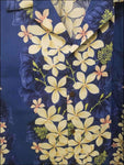 Vintage Plumeria Blue Hawaiian Aloha Cotton Shirt - All Clothes Hawaiian