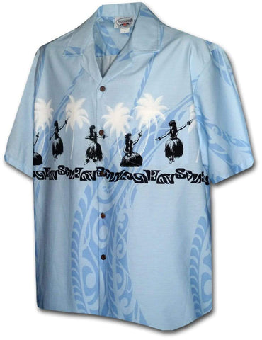 Wahine Nani Blue - 100% Cotton - All Clothes Hawaiian