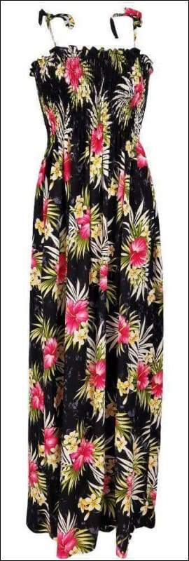 "Weilana Black - 45"" Tube Top Dress - 100% Rayon - All Clothes Hawaiian"