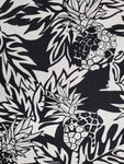 Wild Pineapple Black - Hawaiian Rayon Shirt - All Clothes Hawaiian