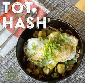 Millet Tots Hash recipe. Great for the whole family and breakfast idea!