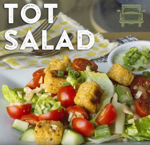 Millet Tot salad recipe. Great for the whole family and lunch time classic!