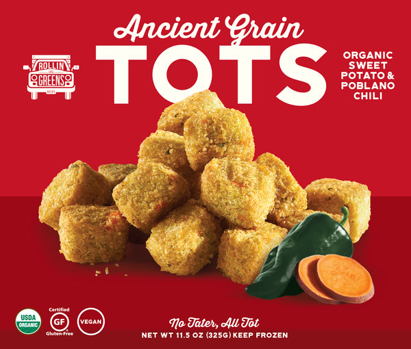 Organic Sweet Potato & Poblano Chili Ancient Grain Tots
