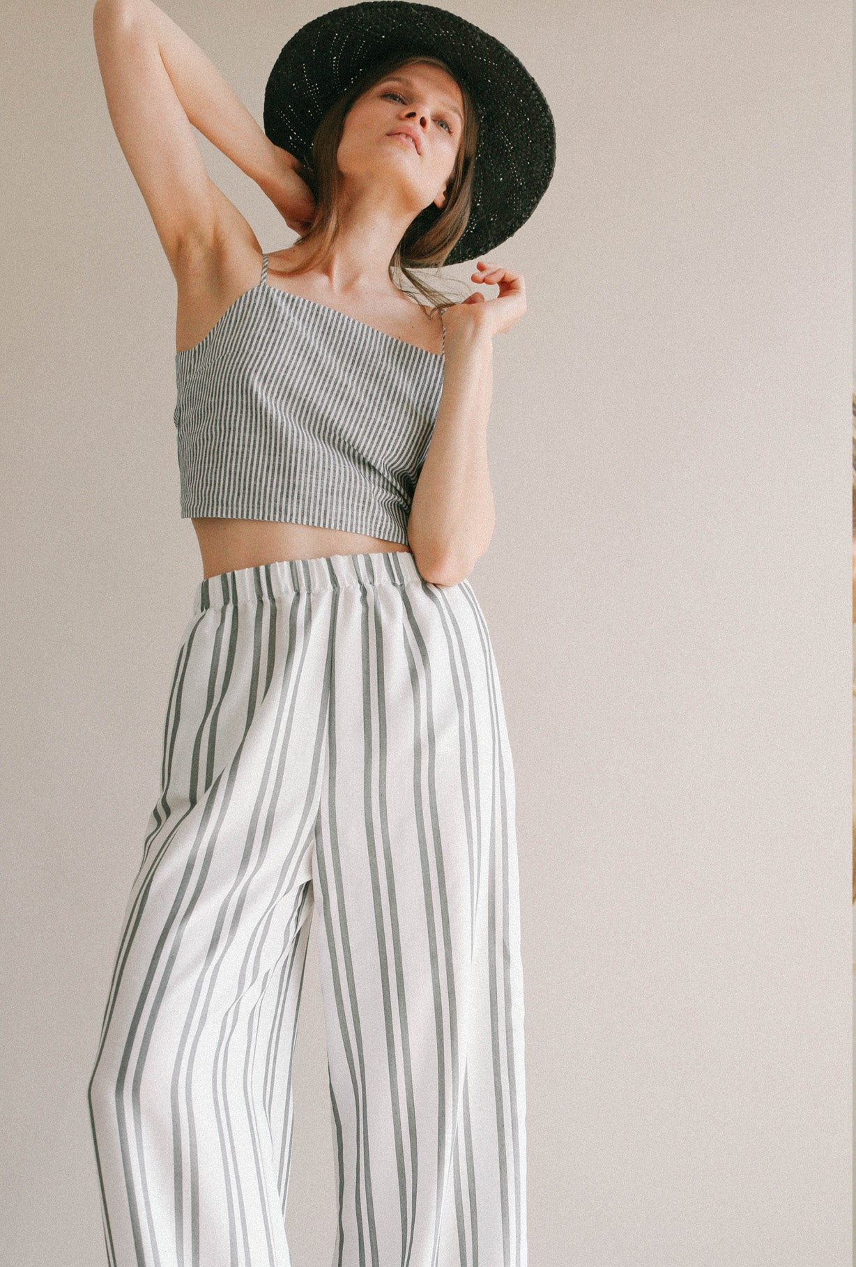 ALICE STRIPED  TIE TOP