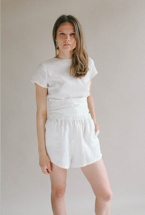 BROOKE SHORTS WHITE