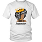Black Queen Born In September Strong Black Woman Afro Tshirt - Hoodie Teefig