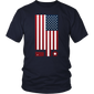 American Flag September 11 Tribute Illustration T-Shirt - Hoodie Teefig