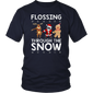 Flossing Through The Snow T Shirt Santa Reindeer Gingerbread