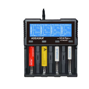 Adeaska VC4 Plus 4-Slot Intelligent Battery Charger