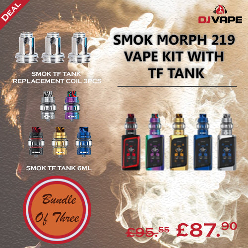 BUNDLE OF THREE-SMOK MORPH 219 VAPE KIT WITH TF TANK & Replacement Coils 3PCS