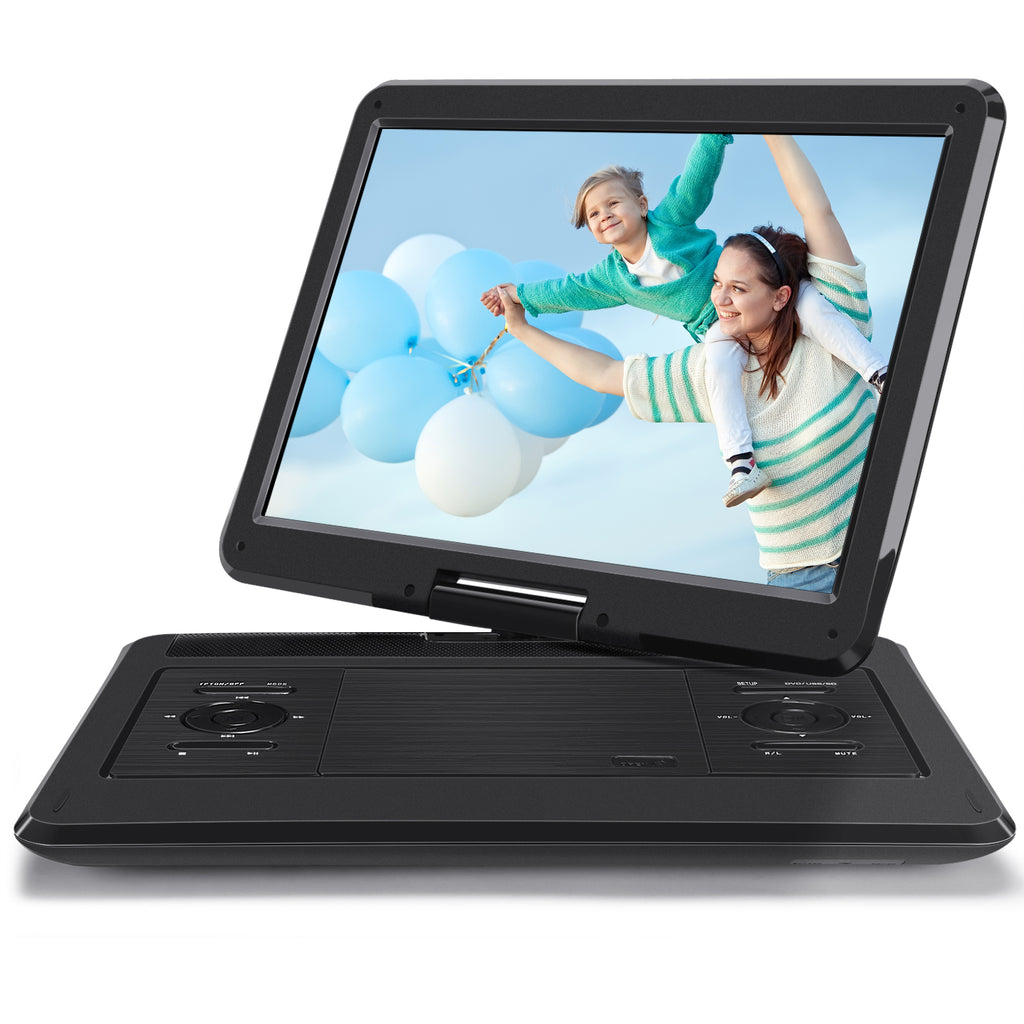 "14"" Car Portable DVD Player for Kids with 1366*768 Large Screen, Support Last Memory AV Output 7 Hours Playing Time"