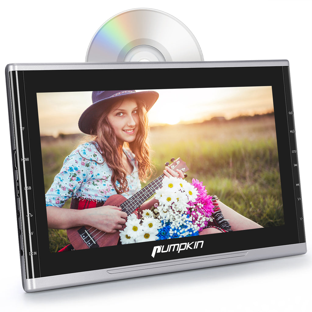 10.1 Inch Full HD Car TV Video Headrest DVD Player Monitor with Suction Type Drive and Adjustable headrest mount holder, Support HDMI/FM/IR/AUX