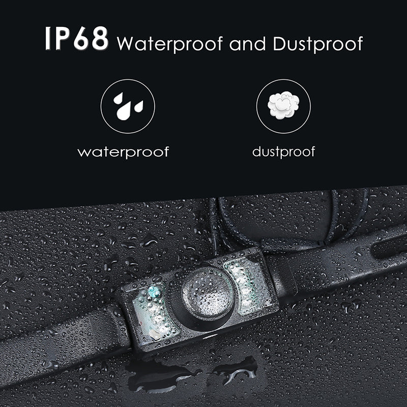 License Plate Car Rear View Wide Angle Reverse Night Vision Backup Camera With Durable Metal material/CMOS/Waterproof /Marking Lines /Shockproof