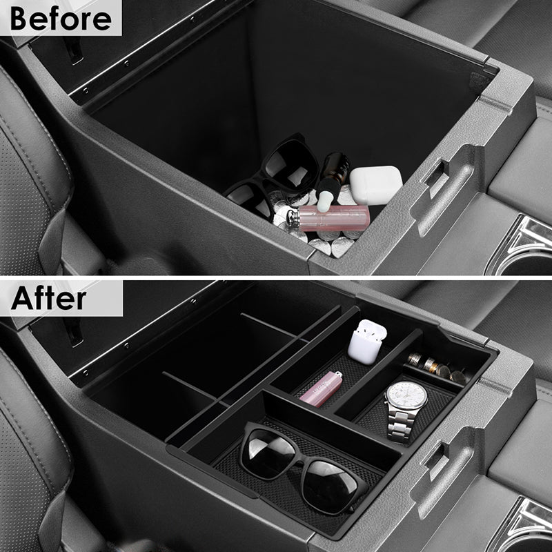Center Console Insert Organizer Tray with Organized Console Device for Toyota Tacoma(2016-2018) Center Console Organizer Vehicles Armrest Box Storage Organizer