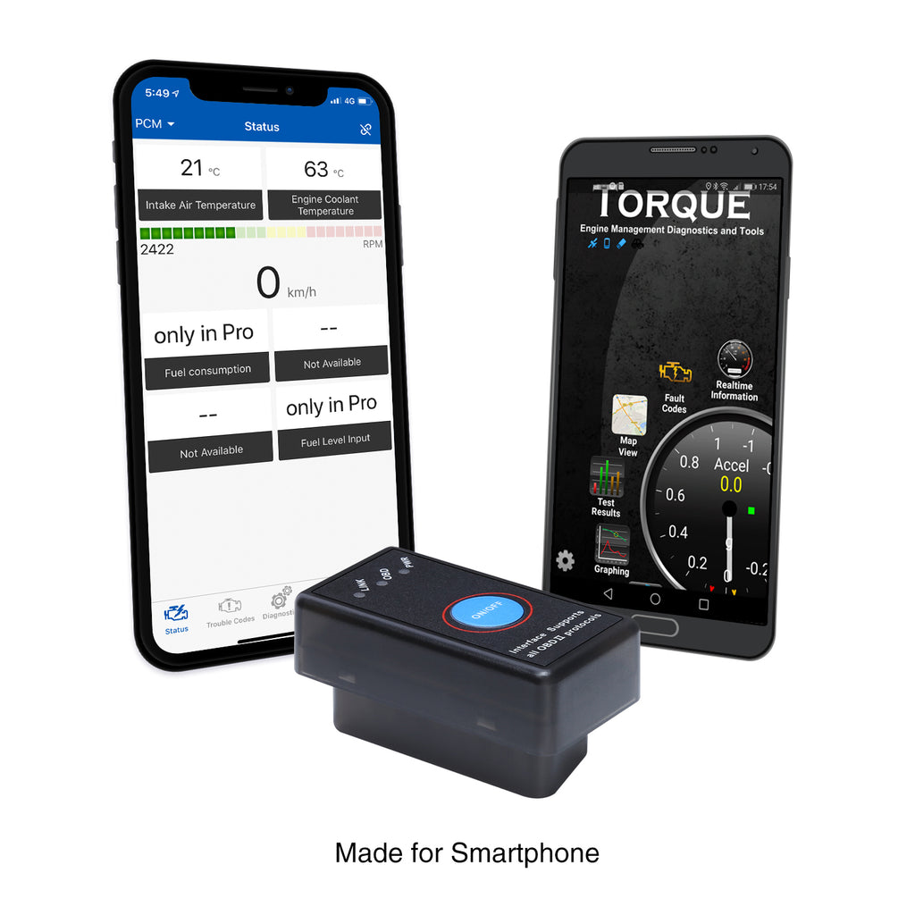 OBD2 Scanner Enhanced OBDII Professional Bluetooth Auto Code Reader for iPhone, iPad & Android