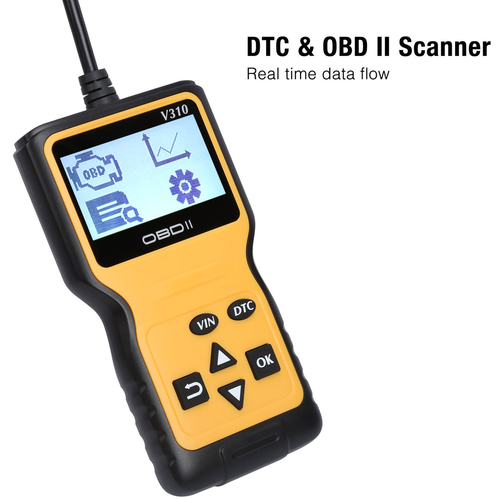 Handheld Auto OBD2 Scanner Check Car Engine Light Fault Code Reader OBD II Diagnostic Scan Tool