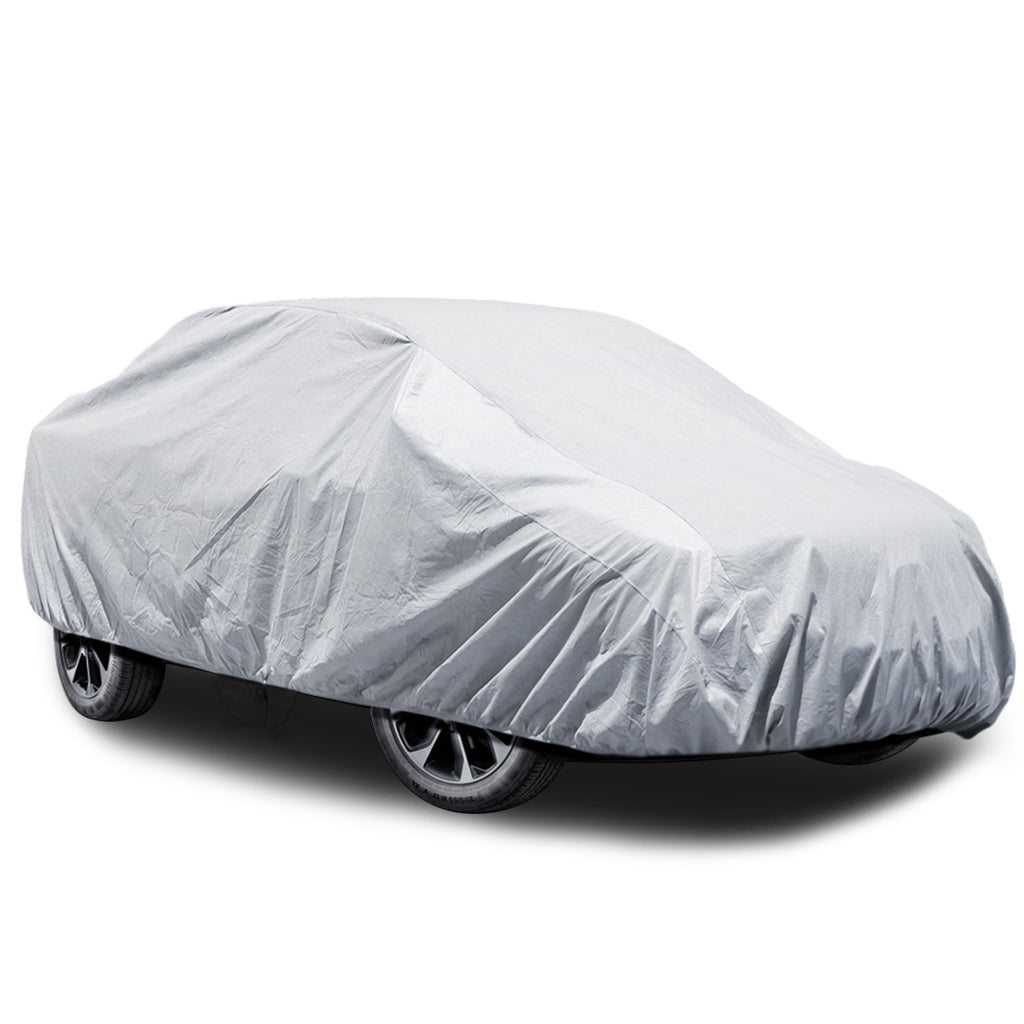 "5 Layer Car Cover SUV Cover, Durable Waterproof Windproof for Outdoor, Rain, Dust, Sun UV All Weather Prevention, Windproof Ribbon & Anti-theft Lock, Fits up to 180"" SUV"